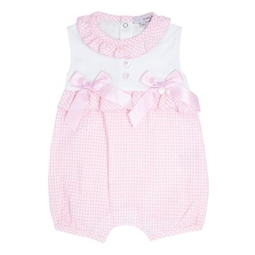 Picture of Blues Baby Girls Pink Romper with Bows