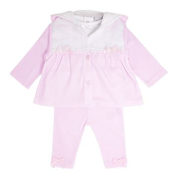 Picture of Blues Baby Girls Pink & White 3 Piece Tracksuit