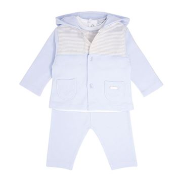 Picture of Blues Baby Boys Blue & White 3 Piece Tracksuit