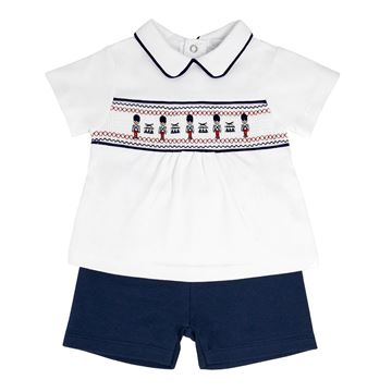 Picture of Blues Baby Boys Navy 2 Piece Short Set