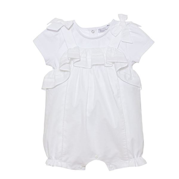 Picture of Patachou Baby Girls White Bow Romper
