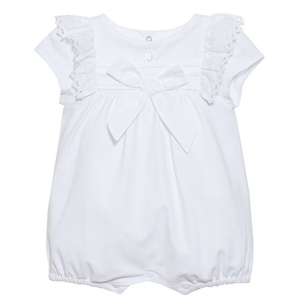 Picture of Patachou Baby Girls White Romper