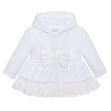 Picture of Patachou Baby Girls White Jacket with Bow