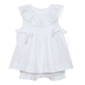 Picture of Patachou Baby Girls White Dress All in One