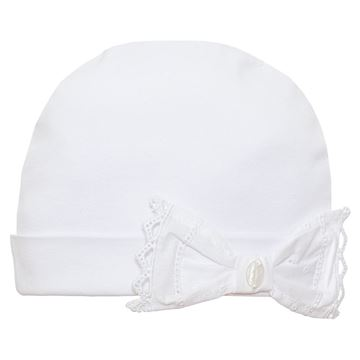 Picture of Patachou Baby Girls White Bow Hat