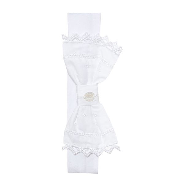 Picture of Patachou Baby Girls White Bow Hairband