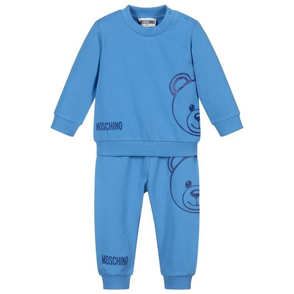 Picture of Moschino Baby Boys Blue Teddy Tracksuit
