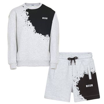 Picture of MSGM Boys Grey Jumper & Shorts