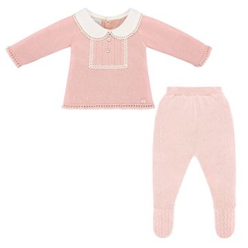 Picture of Paz Rodriguez Girls Pink Knitted 2 Piece Set