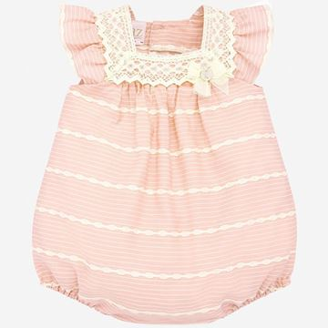 Picture of Paz Rodriguez Girls Pink & Cream Romper