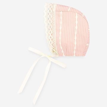 Picture of Paz Rodriguez Girls Pink & Cream Bonnet