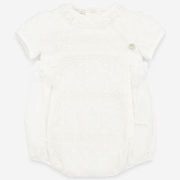 Picture of Paz Rodriguez Girls Ivory Bow Romper