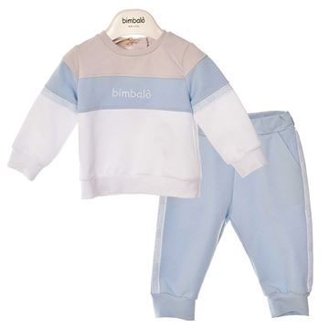 Picture of Bimbalo Boys Blue Stripe 2 Piece Tracksuit