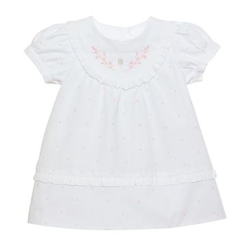 Picture of Patachou Baby Girls White Dress with Spots