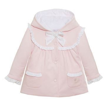 Picture of Patachou Baby Girls Pink Jacket with White Bow
