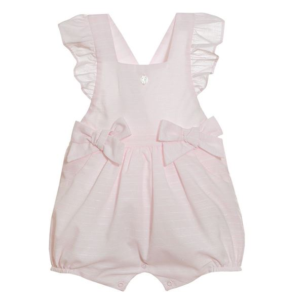 Picture of Patachou Baby Girls Pink Stripe Romper with Bows