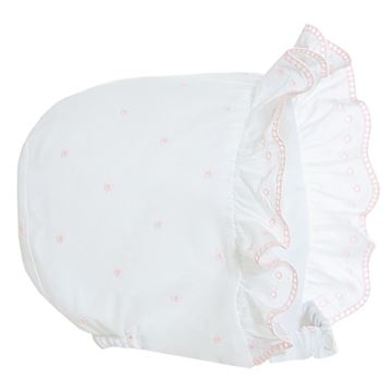 Picture of Patachou Baby Girl White & Pink Spotty Bonnet