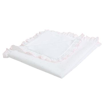 Picture of Patachou Baby Girls White & Pink Spotty Blanket