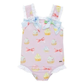 Picture of Patachou Girls Pink Cupcake Swimming Costume