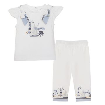 Picture of Patachou Girls Navy & White Nautical Top & Leggings