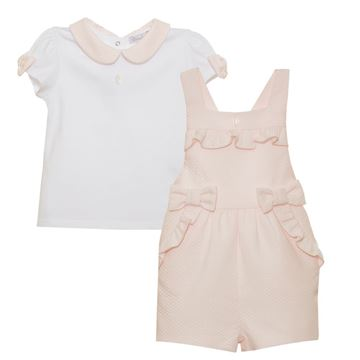 Picture of Patachou Girls Pink Dungaree Short Set