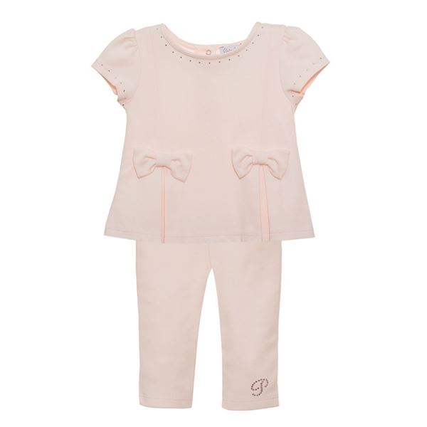 Picture of Patachou Girls Pink Bow Leggings Set