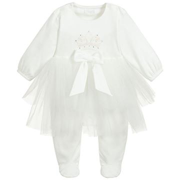 Picture of Sofija Baby Girls Cream Bawelna Romper