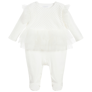 Picture of Sofija Baby Girls Cream Selena Romper