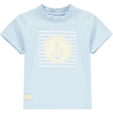 Picture of Mitch & Son 'Byres' Boys Blue  Anchor T-Shirt
