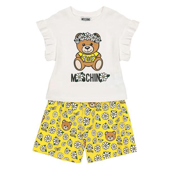 Picture of Moschino Girls Yellow Daisy Short Set