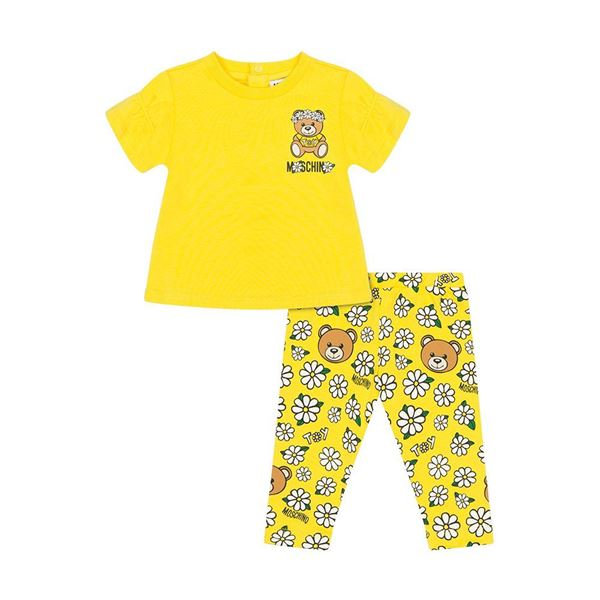 Picture of Moschino Baby Girls Yellow Daisy Leggings Set