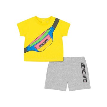 Picture of Moschino Baby Boys Yellow T-Shirt & Grey Shorts