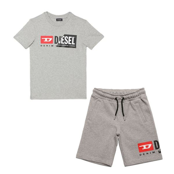 Picture of Diesel Boys Grey T-Shirt & Shorts Set
