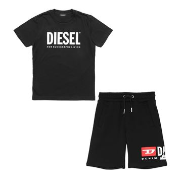 Picture of Diesel Boys Black T-Shirt & Shorts Set