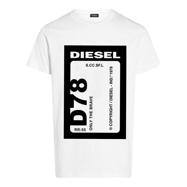 Picture of Diesel Boys White & Black T-Shirt