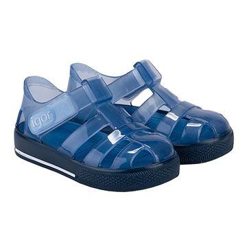 Picture of Igor Star Brillo Navy Velcro Jellies