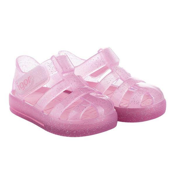 Picture of Igor Star Glitter Pink Velcro Jellies