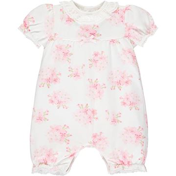 Picture of Emile Et Rose Baby Girls Pink Printed West Romper