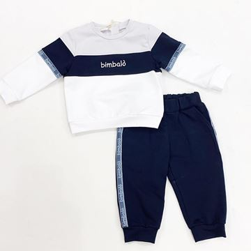 Picture of Bimbalo Boys Navy 2 Piece Tracksuit