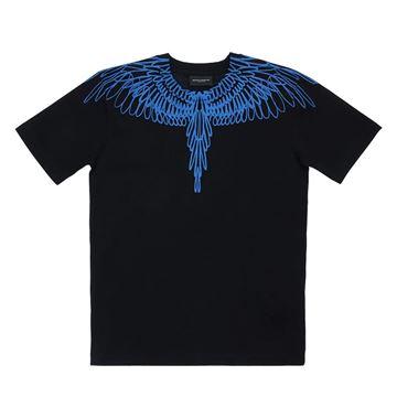 Picture of Marcelo Burlon Boys Black & Blue T-Shirt
