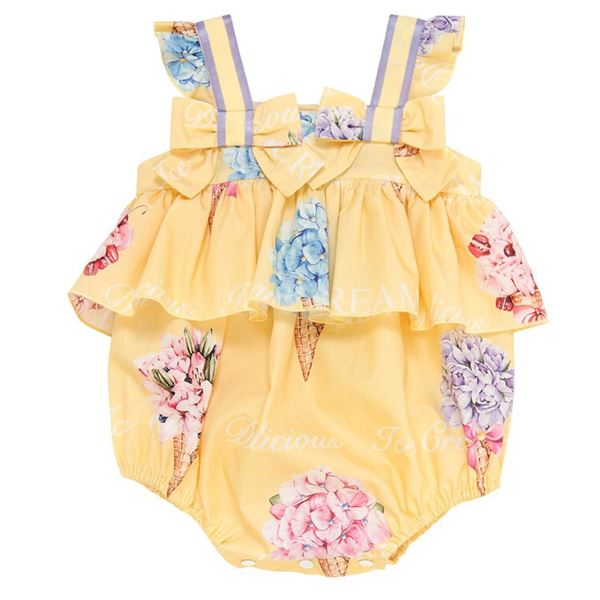 Picture of Balloon Chic Baby Girl Yellow Romper