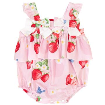 Picture of Balloon Chic Baby Girl Pink Strawberry Romper