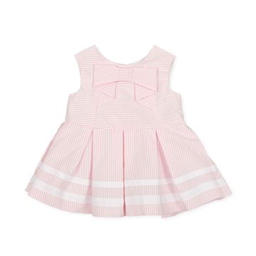 Picture of Tutto Piccolo Baby Girls Pink Stripe Dress with Bow