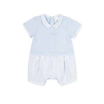Picture of Tutto Piccolo Baby Boys Blue Stripe Short Romper