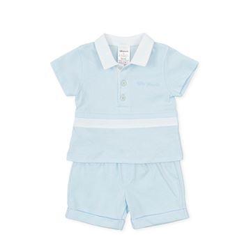 Picture of Tutto Piccolo Baby Boys Blue 2 Piece Short Set