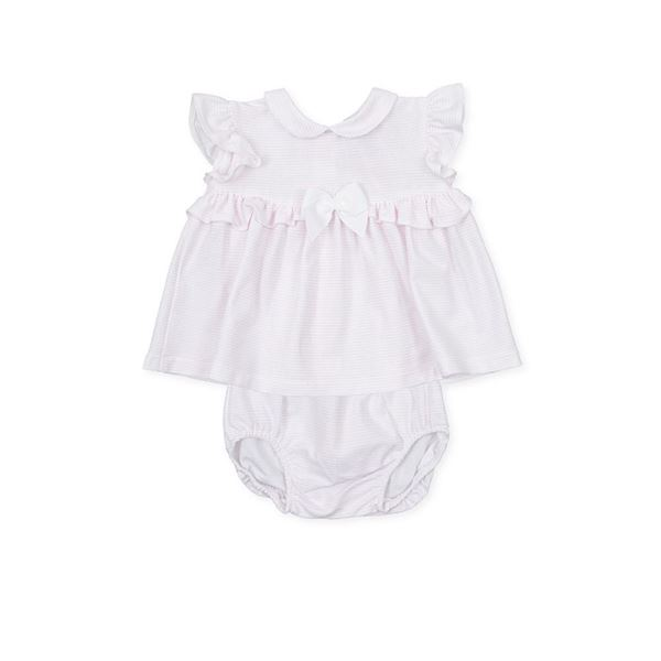 Picture of Tutto Piccolo Baby Girls Pink Dress & Knickers