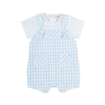 Picture of Tutto Piccolo Baby Boys Blue Checked Romper