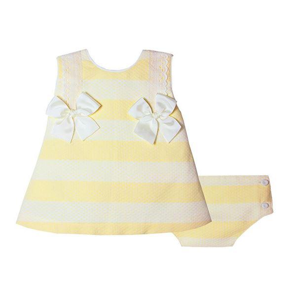 Picture of Pretty Originals Baby Girls Lemon Dress & Knickers