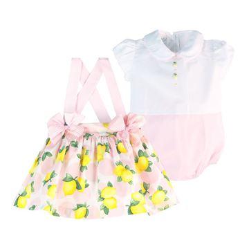 Picture of Pretty Originals Baby Girl Lemon & Pink Print Set