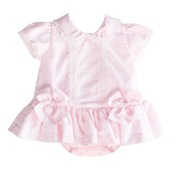 Picture of Pretty Originals Baby Girls Pink Dress & Knickers